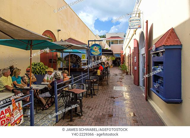 Alley or passageway in Charlotte Amalie on the Craibbean Island of St Thomas in the US Virgin Islands