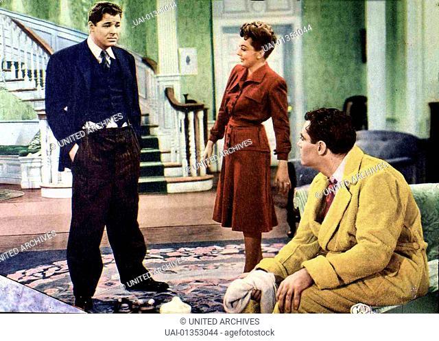 Thema: Der Mann, Male Animal, The, Thema: Der Mann, Male Animal, The, Jack Carson, Oliva de Havilland, Henry Fonda Professor Tommy Turner (H