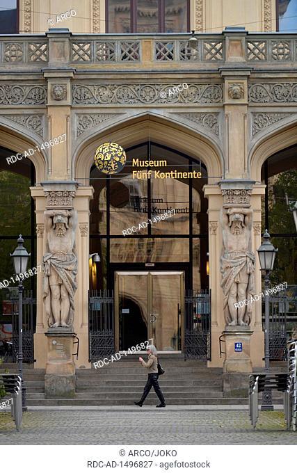 Museum Fuenf Kontinente, Maximilianstrasse, Muenchen, Bayern, Deutschland, Museum fünf Kontinente