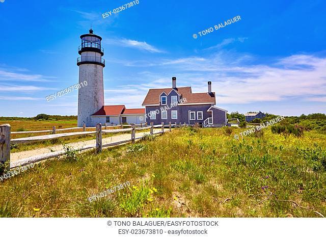 Cape Cod Truro lighthouse in Massachusetts USA