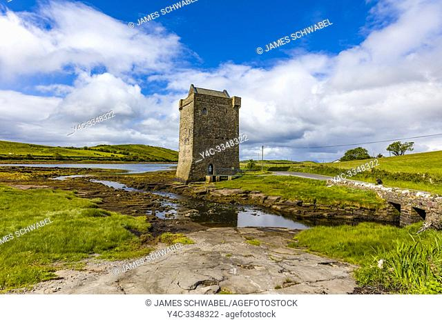 Rockfleet Castle or Carrickahowley Castle on Clew Bay one of the castles of the famed Pirate Queen Grace O'Malley in County Mayo Ireland