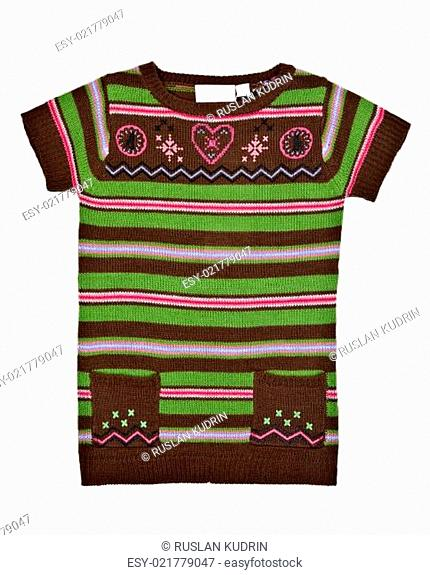 warm striped sweater