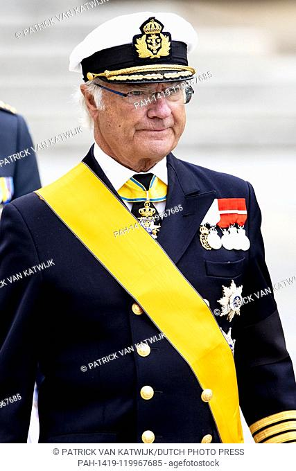 King Carl Gustaf of Sweden at Funeral of Grand Duke Jean at the Cathedral in Luxembourg, 4 May 2019. Photo: Patrick van Katwijk |