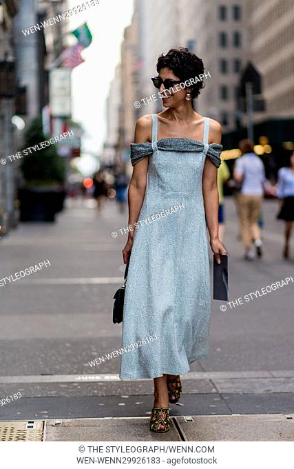 Street Style photos during New York Fashion Week SS17 Featuring: Yasmin Sewell Where: New York, New York, United States When: 15 Sep 2016 Credit: The...