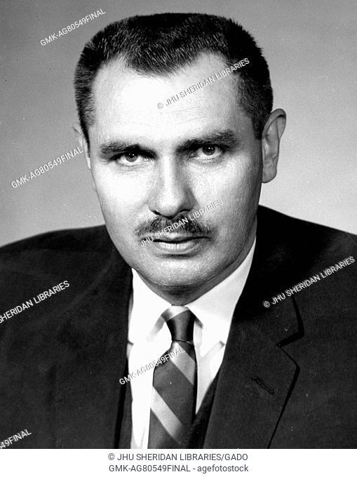 Chest up portrait of US diplomat Hermann Frederick Eilts, 1965