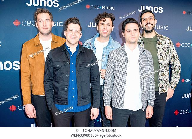 2018 JUNO Awards, held at the Rogers Arena in Vancouver, Canada. Featuring: Arkells Where: Vancouver, British Columbia, Canada When: 25 Mar 2018 Credit: Lu...