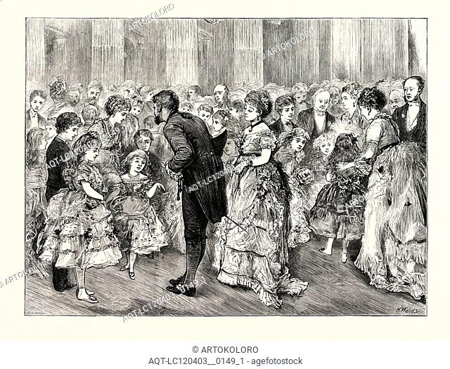 THE LADY MAYORESS'S JUVENILE BALL AT THE MANSION HOUSE, LONDON, UK, 1873 engraving
