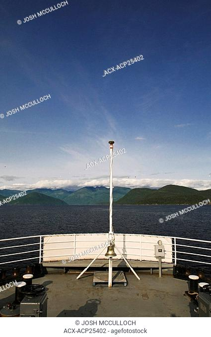 The view from the Earl's Cove - Saltery Bay Ferry on the Sunshine Coast, BC
