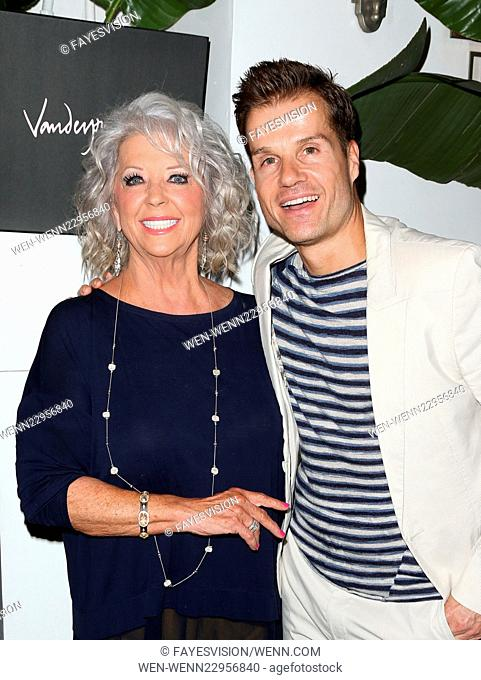 EVINE Live celebration at Villa Blanca Featuring: Paula Deen, Louis Van Amstel Where: Beverly Hills, California, United States When: 29 Sep 2015 Credit:...