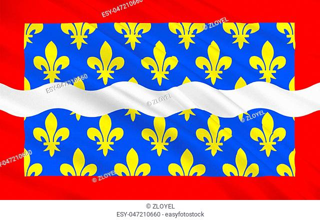 Flag of Cher is a department in the Centre-Val de Loire region of France. It is named after the Cher River