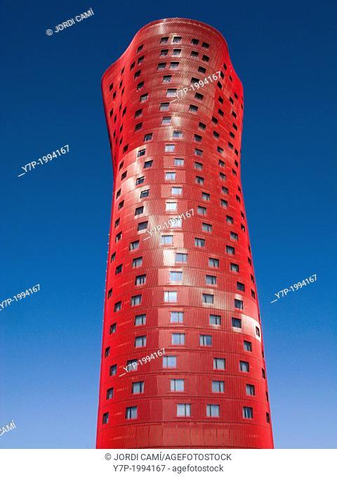 Tower by Toyo Ito in Plaça Europa, Hospitalet de Llobregat. Barcelona province, Catalonia, Spain