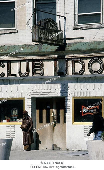 Manhattan. Harlem. Run-down Lido Bar on Malcolm X Boulevard