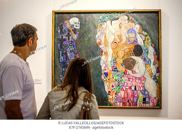 Tod und Leben,oil on canvas,Gustav Klimt,Leopold Museum,Vienna, Austria, Europe