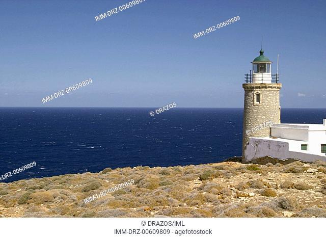 Lighthouse near Achla Beach  Andros, Cyclades, Greece