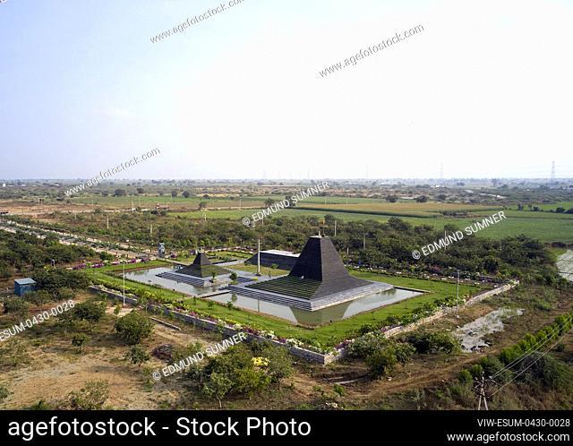 Distant Drone View. Balaji Temple, Andhra Pradesh, India. Architect: Sameep Padora and associates , 2020