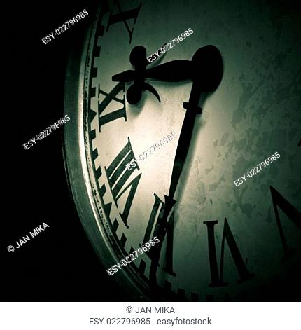 Abstract dark clock detail