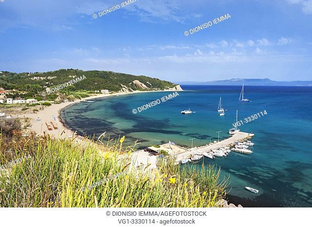 Greece Erikoussa Island, Ionian Islands, Europe, Corfu district, the bay of Porto