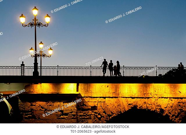 Triana bridge at night. Seville. Andalucia. Spain