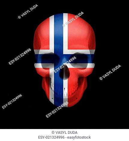 Norwegian flag skull