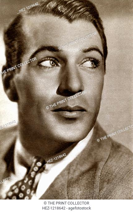 Gary Cooper, American film actor, 1933. Cooper (1901-1961) was a two-time Academy Award-winning American film actor of English heritage