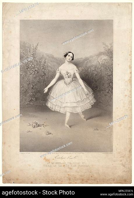Carolina Rosati as La Rose, in the ballet of Thea, ou La Fée aux fleurs Additional title: Thea. Brandard, John, 1812-1863 (Lithographer) M. & N