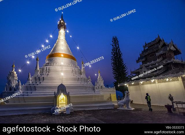 Wat Phra That Doi Kong Mu temple, Mae Hong Son, Thailand
