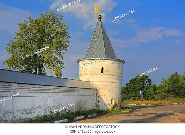 Tower of Luzhetsky Monastery, Mozhaysk, Moscow region, Russia
