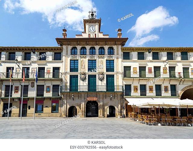 Tudela charters Square, Plaza de los fueros, Spain