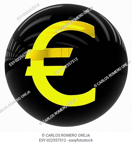 ball with the euro symbol