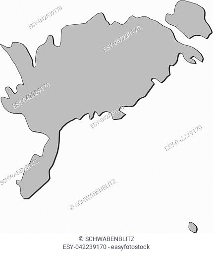 Map of Saare, a province of Estonia
