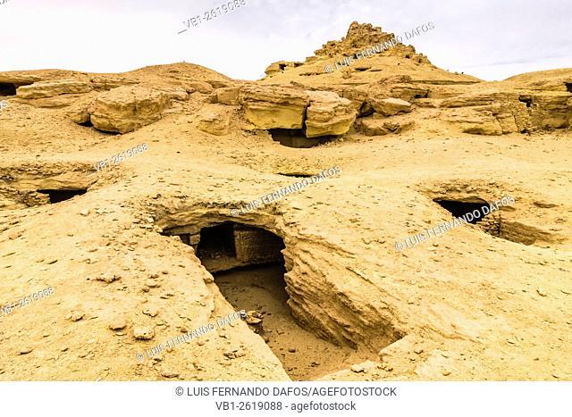 Ptolemaic and Roman tombs at Gebel al-Mawta. Siwa, Egypt