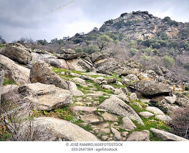 Castillo de Bayuela hill. Toledo. Castilla la Mancha. Spain. Europe