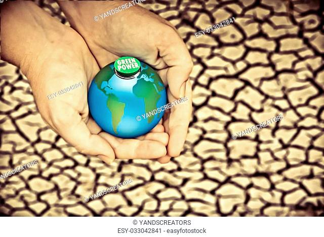 Dry cracked earth, Save Earth, Go Green, Environment, concept