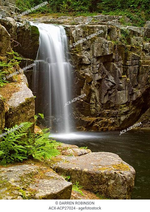 Eagles Falls near Powell River on the beautiful Sunshine Coast of British Columbia, Canada