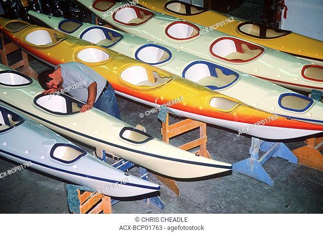Seaward kayaks assembly plant, Ladysmith, British Columbia, Canada