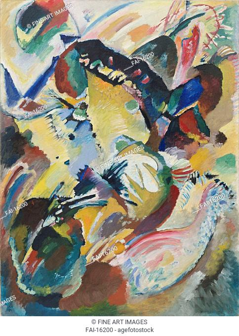 Panel for Edwin R. Campbell No. 2. Kandinsky, Wassily Vasilyevich (1866-1944). Oil on canvas. Abstract Art. 1914. © Museum of Modern Art, New York