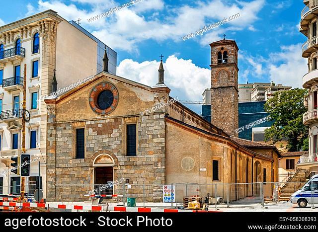 The church of Santa Maria degli Angeli is a late Romanesque religious building located in Lugano, Swizerland