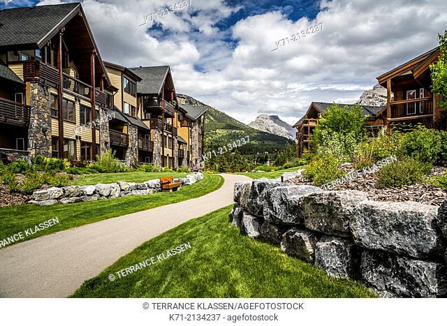 The Spring Creek Mountain Village condominium complex in Canmore, Alberta, Canada