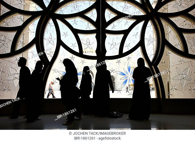 In the Sheikh Zayed Mosque, Abu Dhabi, United Arab Emirates, Middle East