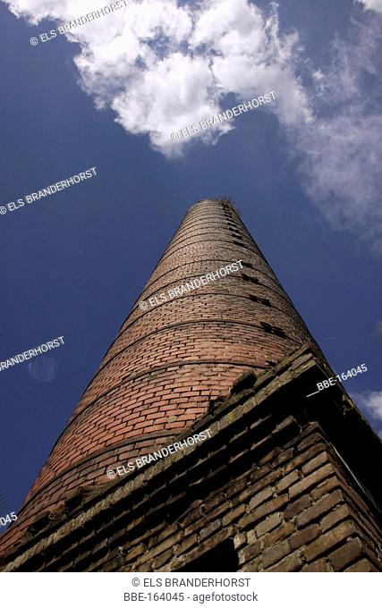 The chimney of an old brickyard