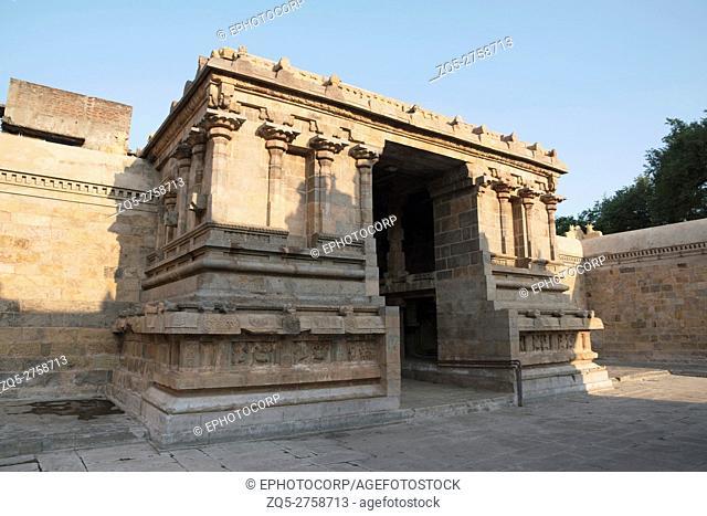 Entrance, Deivanayaki Amman shrine, adjacent to Airavatesvara Temple, Darasuram, Tamil Nadu, India