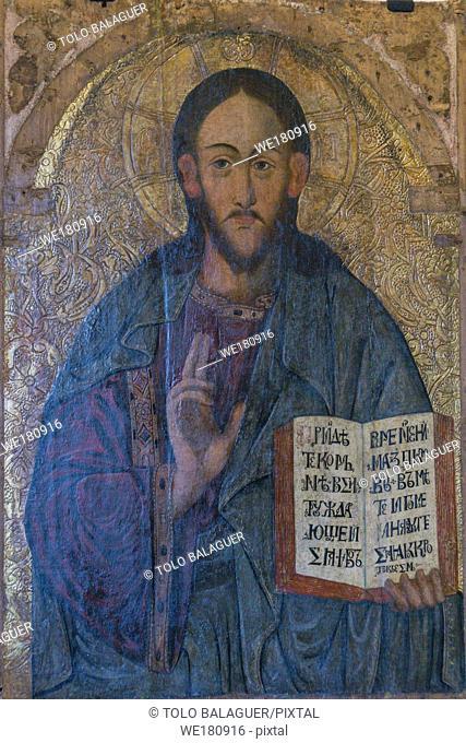 Cristo pantocrator, Lesko, siglo XVII,museo de los iconos, castillo Real, Sanok, voivodato de subcarpacia,,Polonia, eastern europe