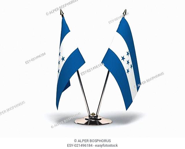 Miniature Flag of Honduras (Isolated)