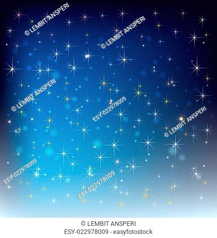 abstract celebration background with snowflakes and stars