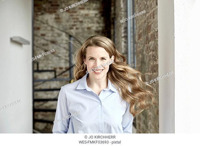 Portrait of smiling businesswoman