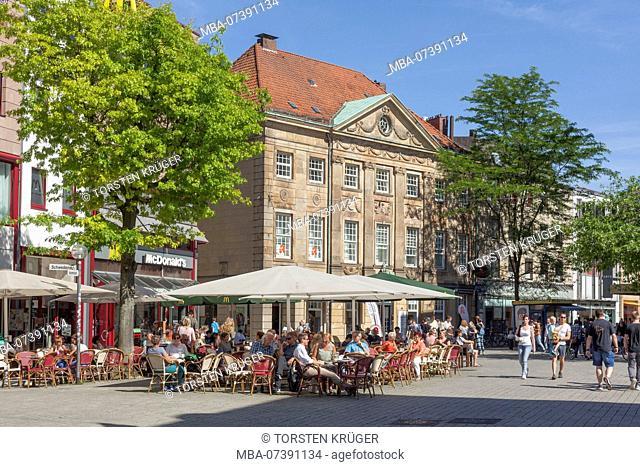 Pedestrian zone Große Straße, Osnabrück, Lower Saxony, Osnabrück, Germany, Europe