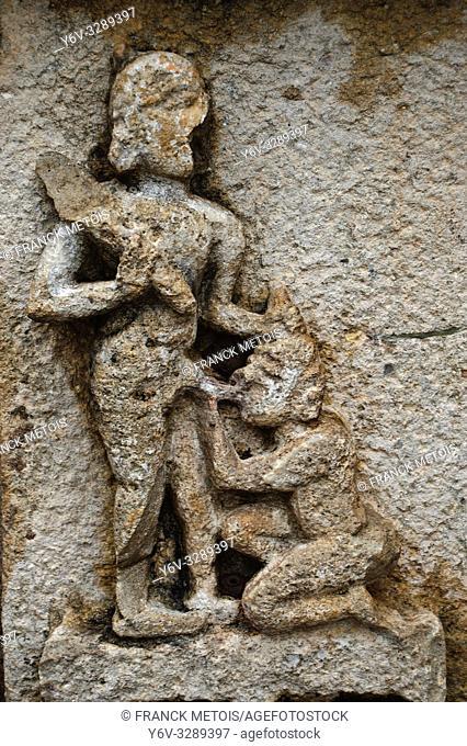 Erotic sculpture in a hindu temple at Bhoramdeo ( Chhattisgarh, India)