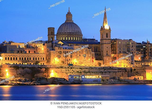 Valletta at Dusk, Malta