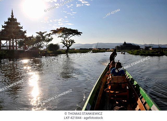 In Nga Phe Chaung on the Inle Lake, Myanmar, Burma, Asia