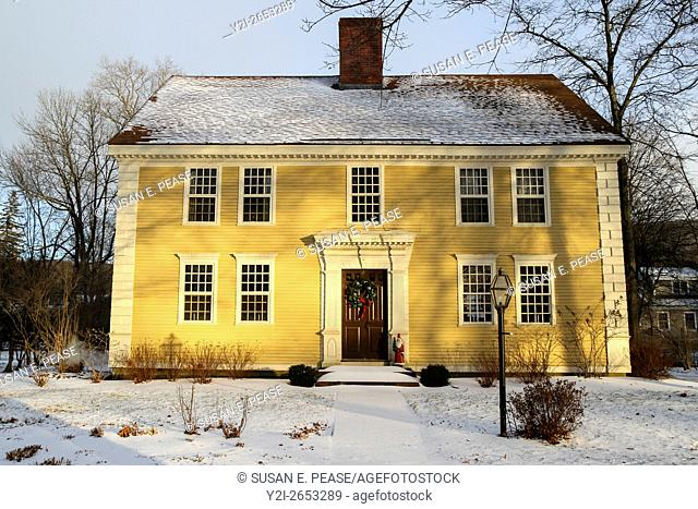 A colonial style home in Old Deerfield, Massachusetts, United States, North America